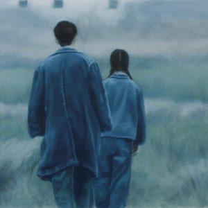 """Indigo"", oil on polyester, 42 x 75 cm. Jose Antonio Ochoa"