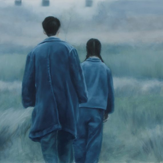 """Indigo"", oil on polyester, 42 x 75 cm. Jose Antonio Ochoa"