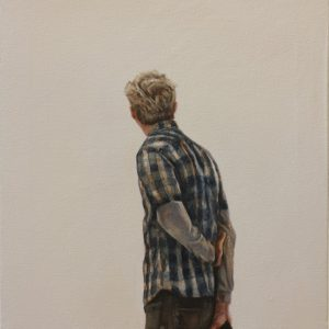 """Sunday at the Art Institute"", oil on canvas, 47 x 38 cm. Jose Antonio Ochoa"