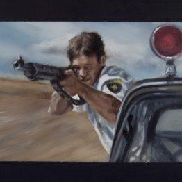 _#enough_, oil on polyester, 10 x 8 cm, Jose Antonio Ochoa