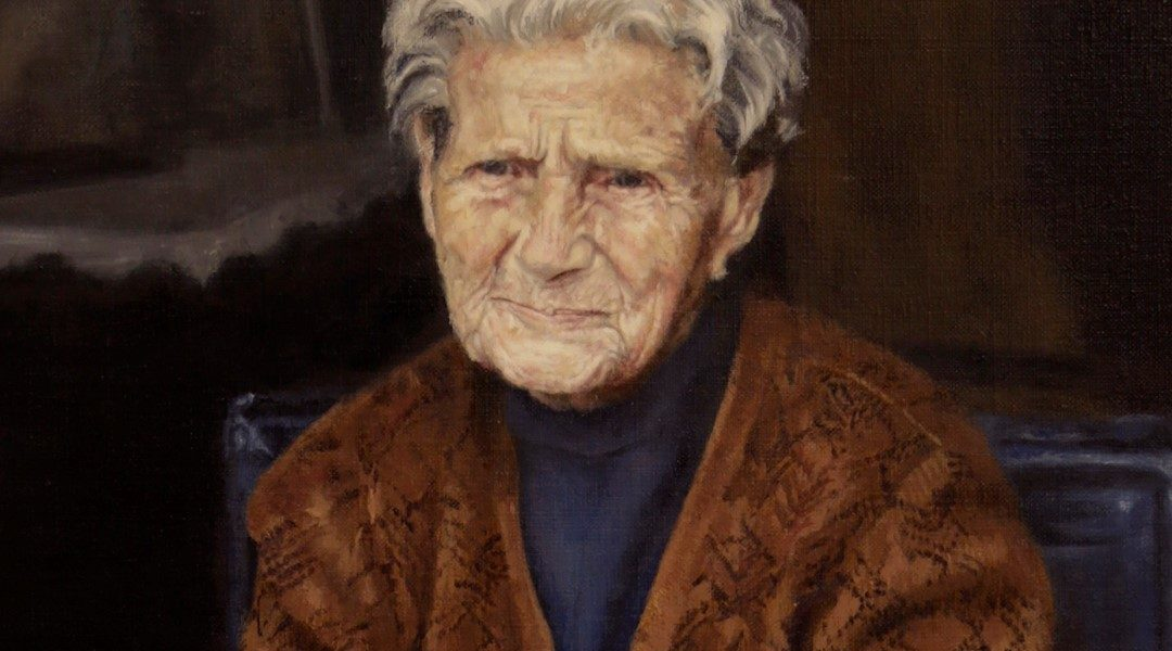 """Granny"" selected for the BP Award 2017 exhibition at the National Portrait Gallery. (London)"