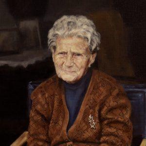 """Granny"" (detail) (Selected on BP Award 2017), oil on linen, 76 x 68 cm. Jose Antonio Ochoa"