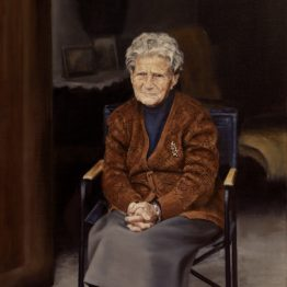 """Granny"" (Selected on BP Award 2017), oil on linen, 76 x 68 cm. Jose Antonio Ochoa"