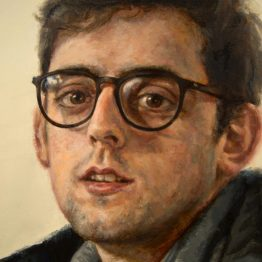 """Pablo"" (detail), oil on canvas, 100 x 50 cm. Jose Antonio Ochoa"