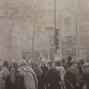 """People"", oil on canvas, 146 x114 cm. Jose Antonio Ochoa"