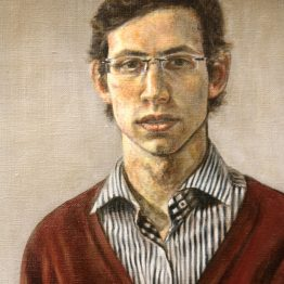 """Self portrait"" (detail), oil on linen, 40 x 40 cm. Jose Antonio Ochoa"