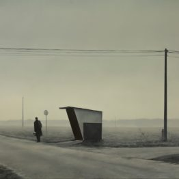 """On the road"", oil on polyester, 108x150cm. Jose Antonio Ochoa"