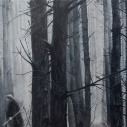 _Between tones of gray III_, oil on polyester, 50 x 70 cm, Jose Antonio Ochoa